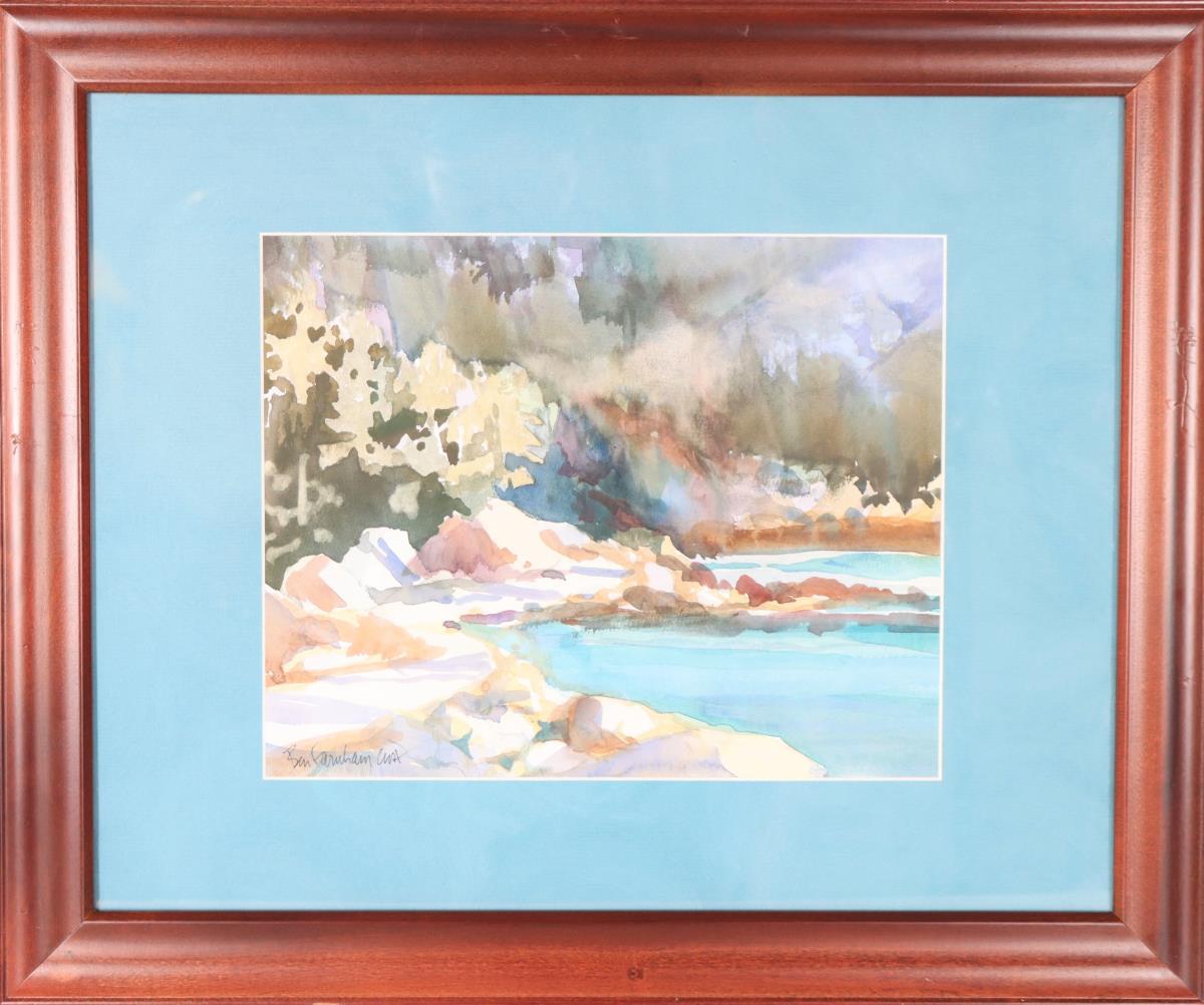 Ben Farnham (b.1926) American, Watercolor - Image 2 of 4