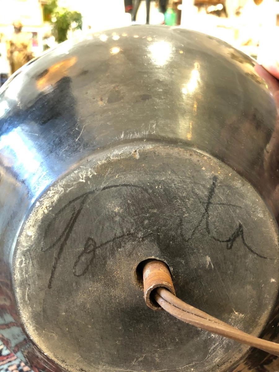 Tonita Roybal San Ildefonso Pueblo Pottery Lamp - Image 9 of 9