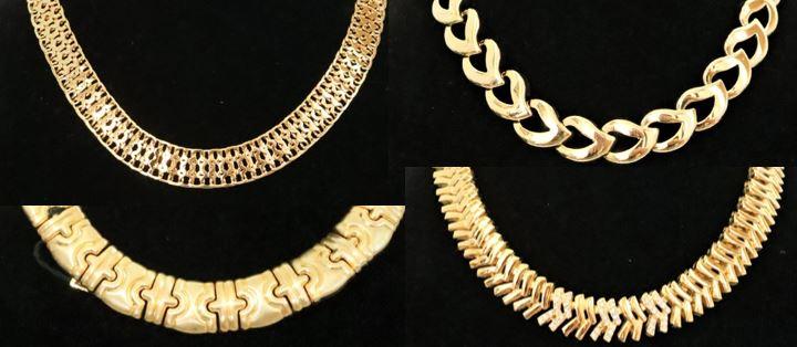 Set of (4) Gilt Chain Necklaces