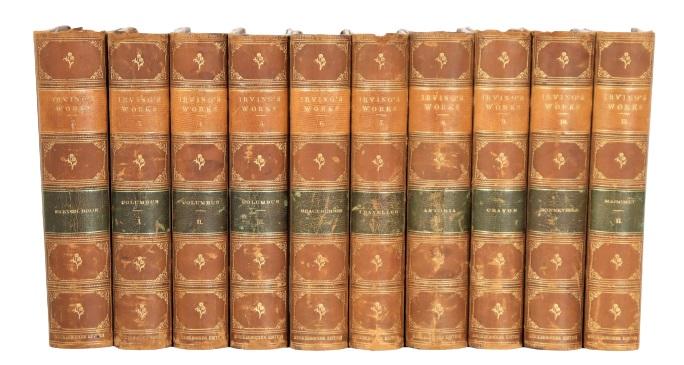 (10) Volumes by Washington Irving 1867-1870
