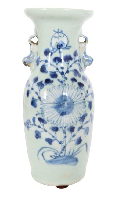 Chinese Porcelain Blue &White Vase - Image 2 of 6