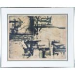 Abstract Monochromatic Etching, Signed