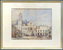 Dorfplatz an der Amalfiküste