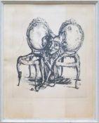 Auch zwischen den Stühlen sitzt der Schalk bequem