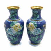 Ein Paar Cloisonne-Vasen