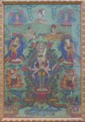 Thangka des Ekadashamukha-Avalokiteshvara