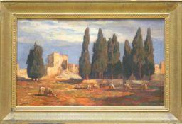Ruinenlandschaft mit Schafen