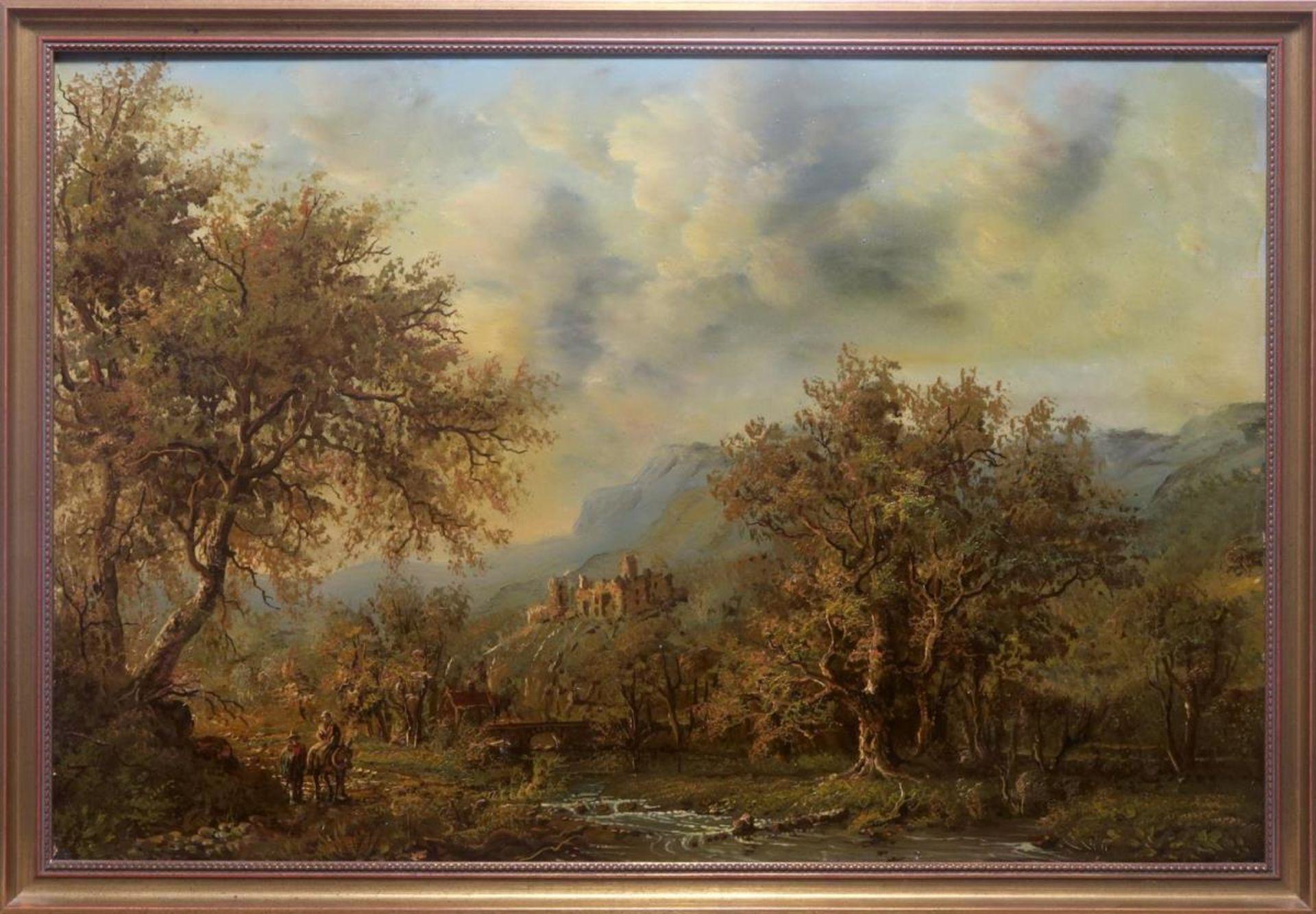 Landschaft mit Burgruine