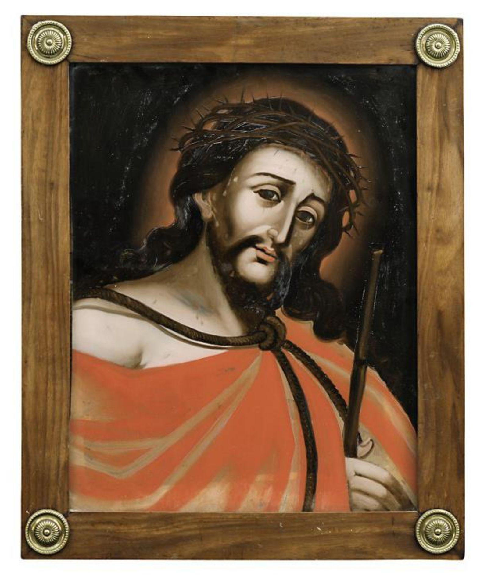 Vier Hinterglasbilder: Ecce Homo bzw. Mater dolorosa - Bild 4 aus 4