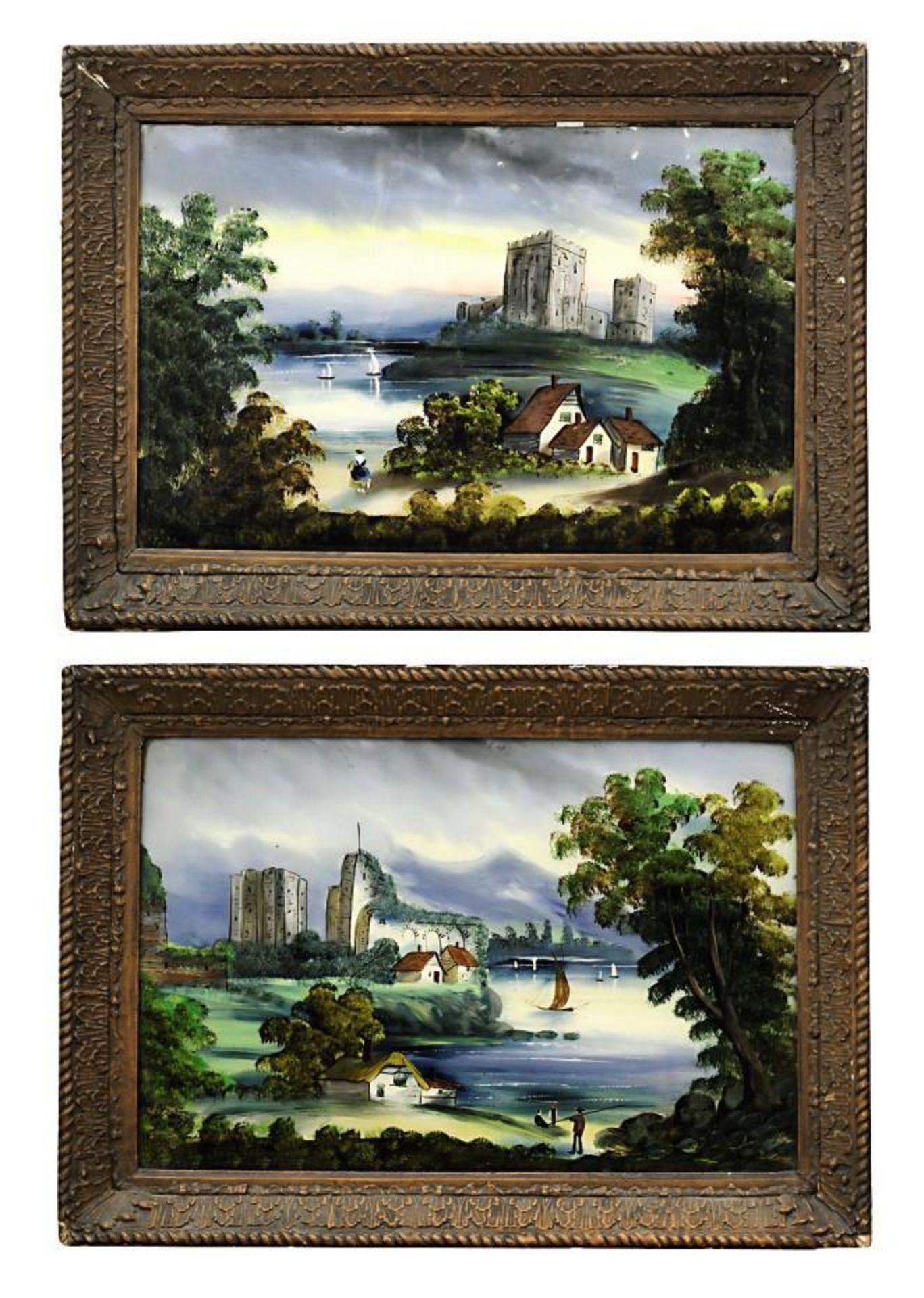 Vier Hinterglasbilder - Bild 3 aus 3