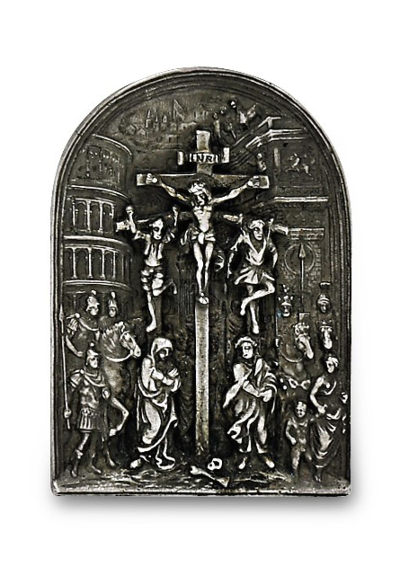 Relieftafel: Kreuzigung Christi