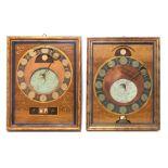 Zwei ewige Kalender mit Mondphase