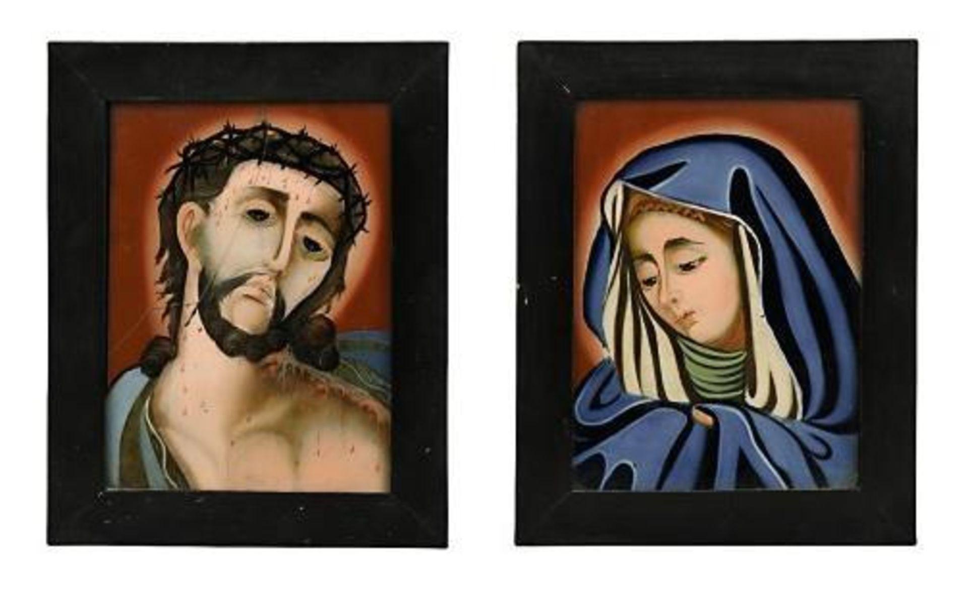 Vier Hinterglasbilder: Ecce Homo bzw. Mater dolorosa - Bild 2 aus 4