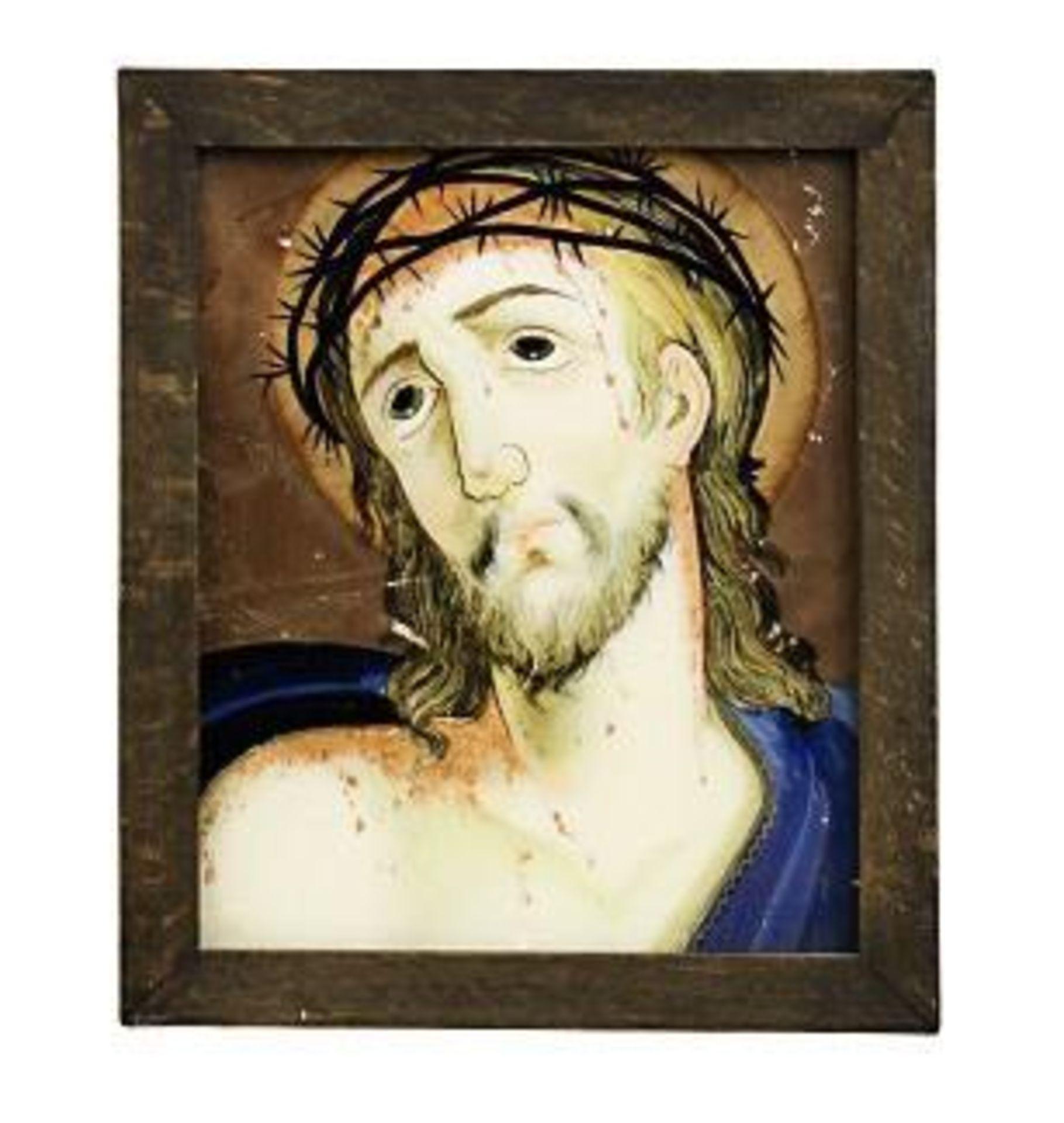 Vier Hinterglasbilder: Ecce Homo bzw. Mater dolorosa - Bild 3 aus 4