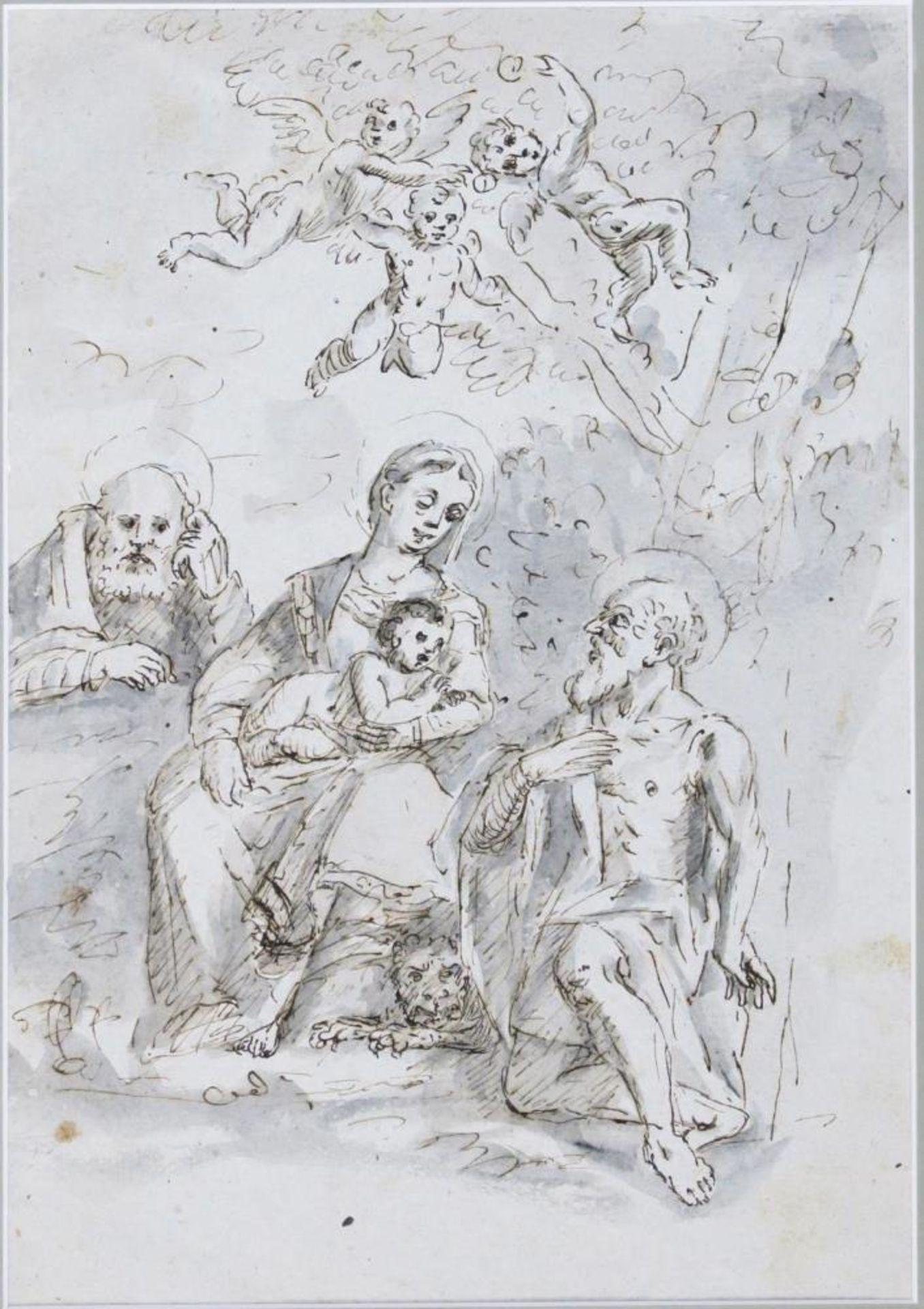 Muttergottes mit dem Hl. Hieronymus