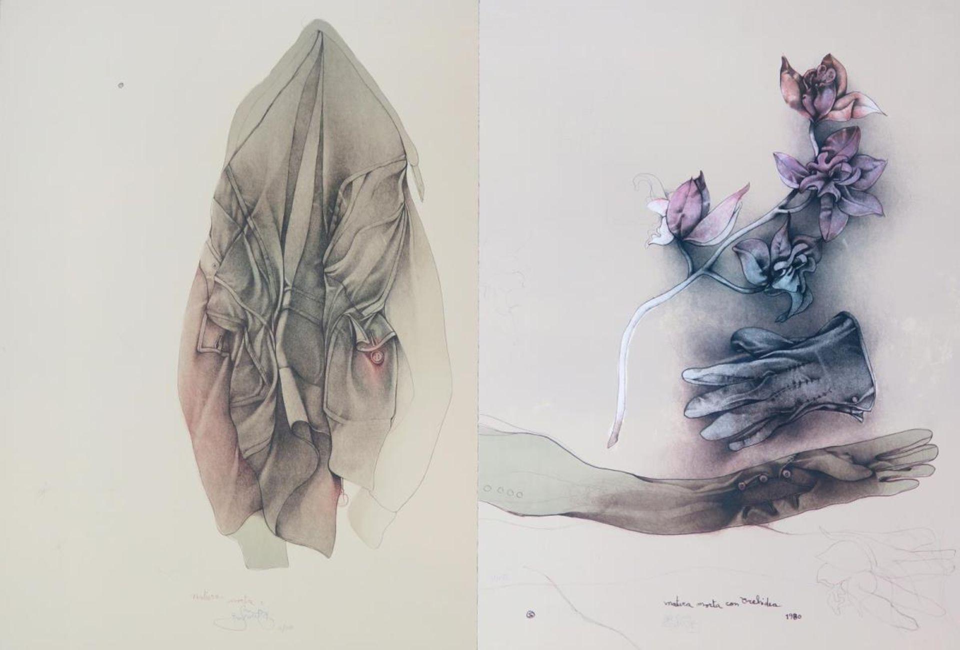 Stillleben mit Orchidee / Stillleben mit Jacke
