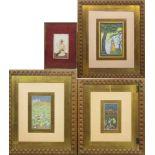 Vier Miniaturen: Schlachtenszenen / Figürliche Darstellungen