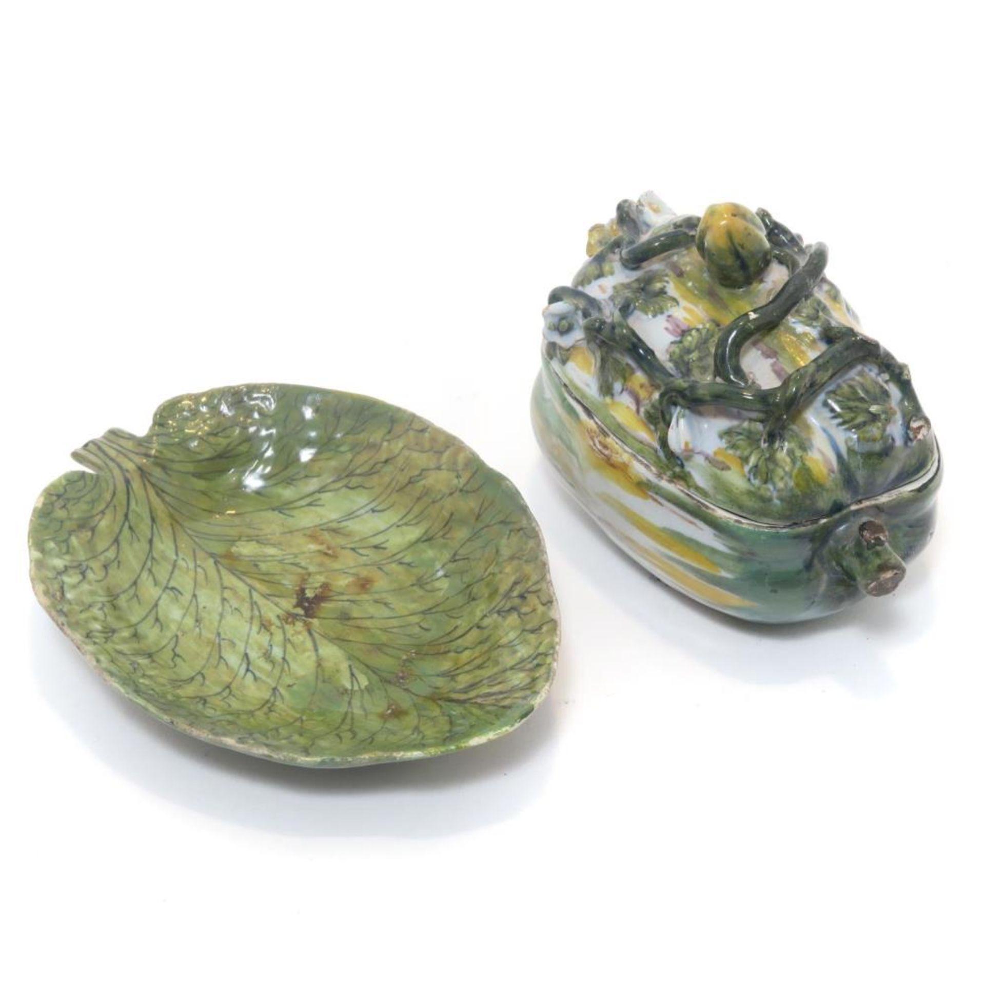 Melonen-Terrine und Blattschale