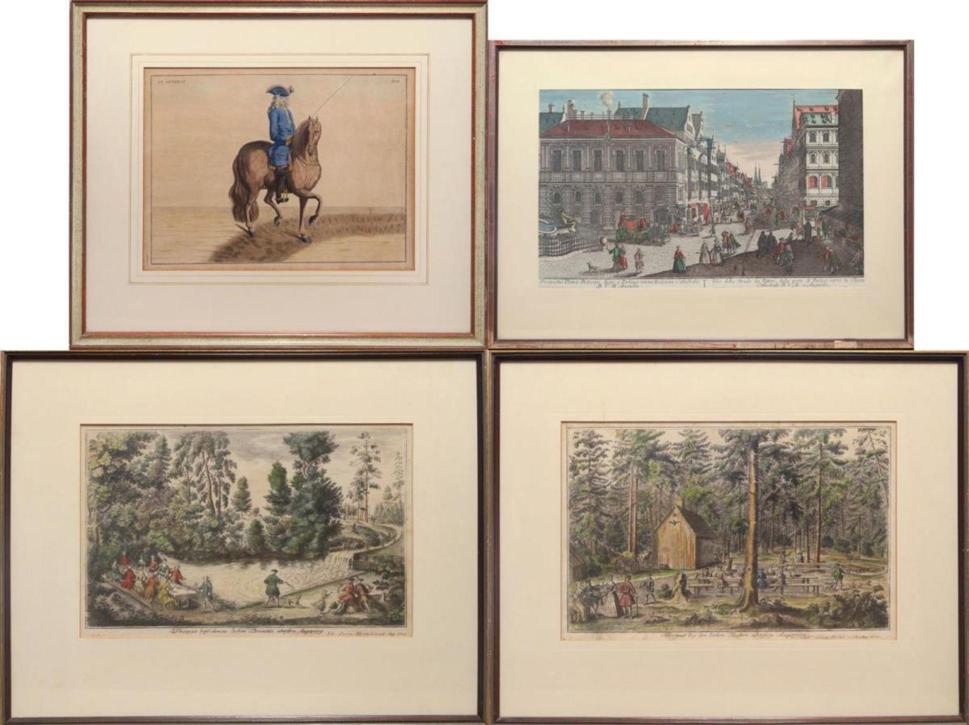 Stadtansicht / Zwei Landschaften / Reiter