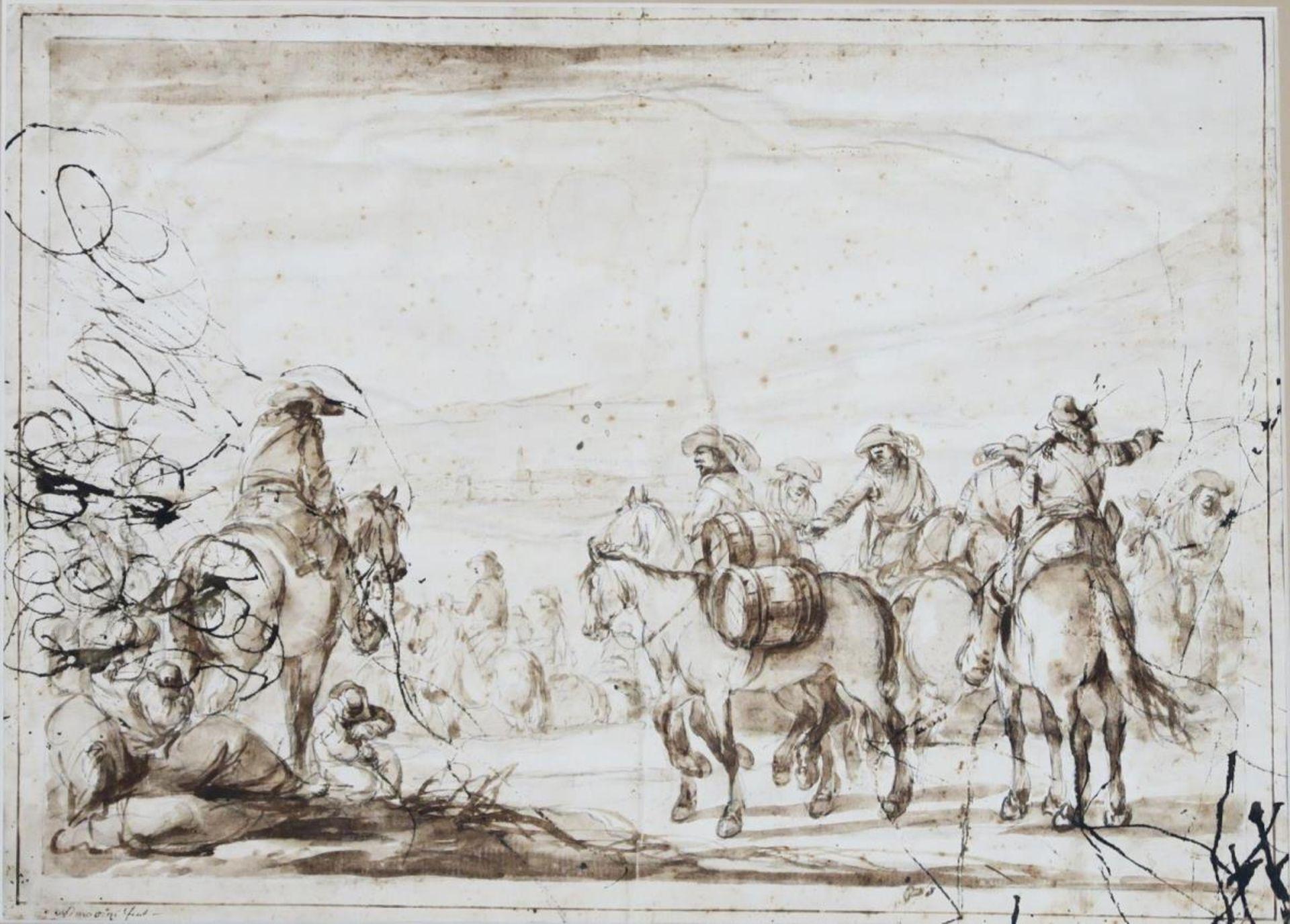 Reiter vor dem Aufbruch - Bild 2 aus 3
