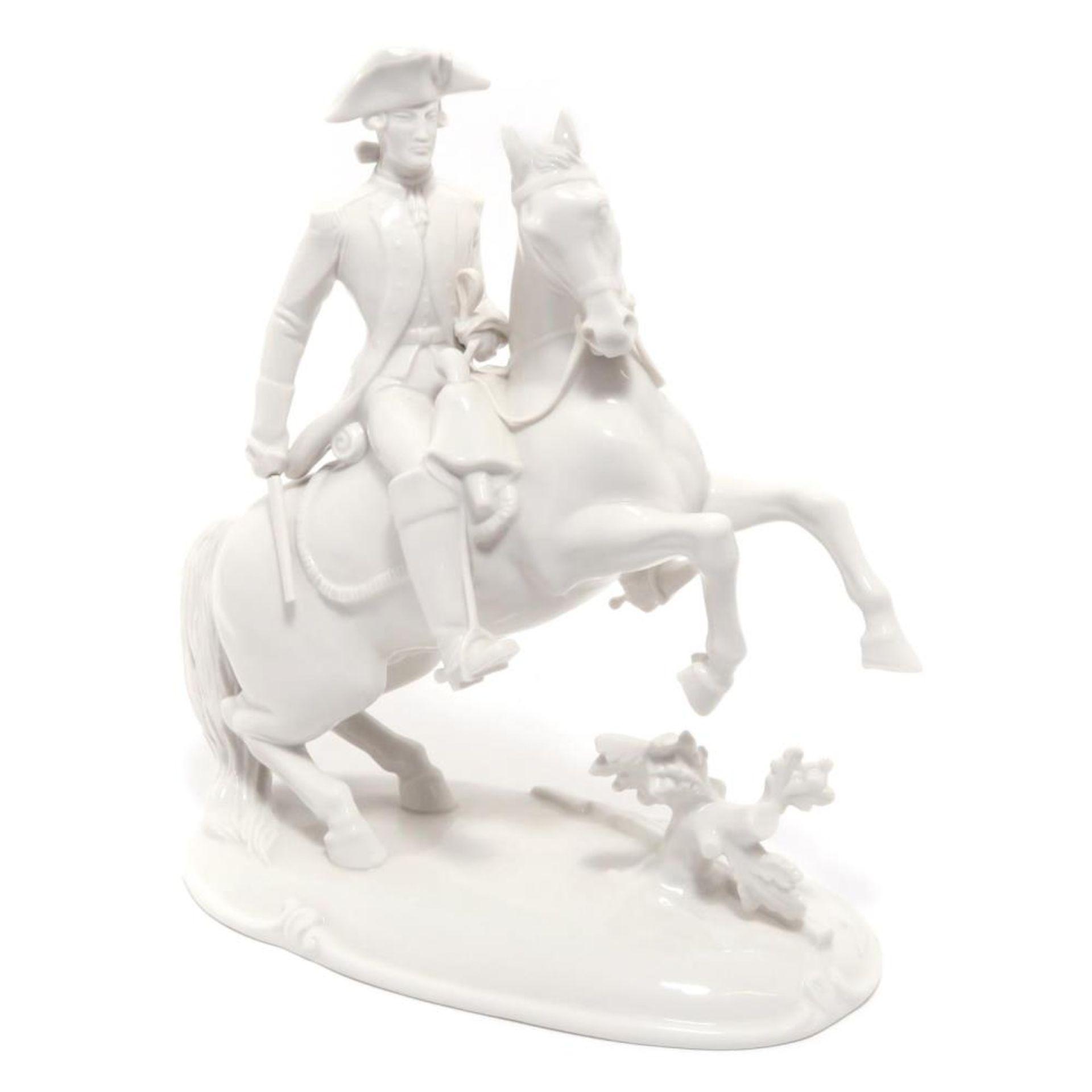 Dragoner-Offizier zu Pferd