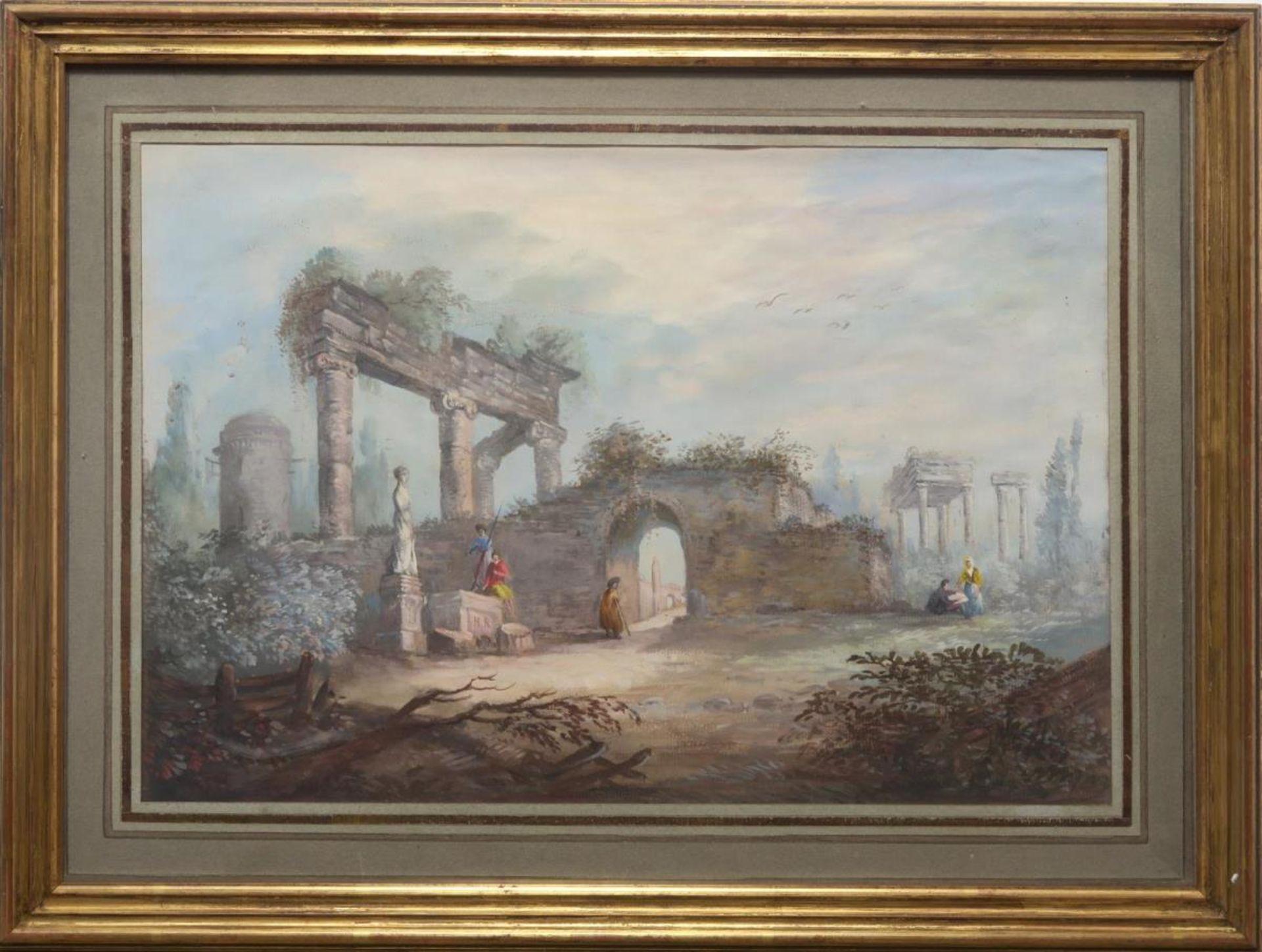 Italienische Ruinenlandschaft