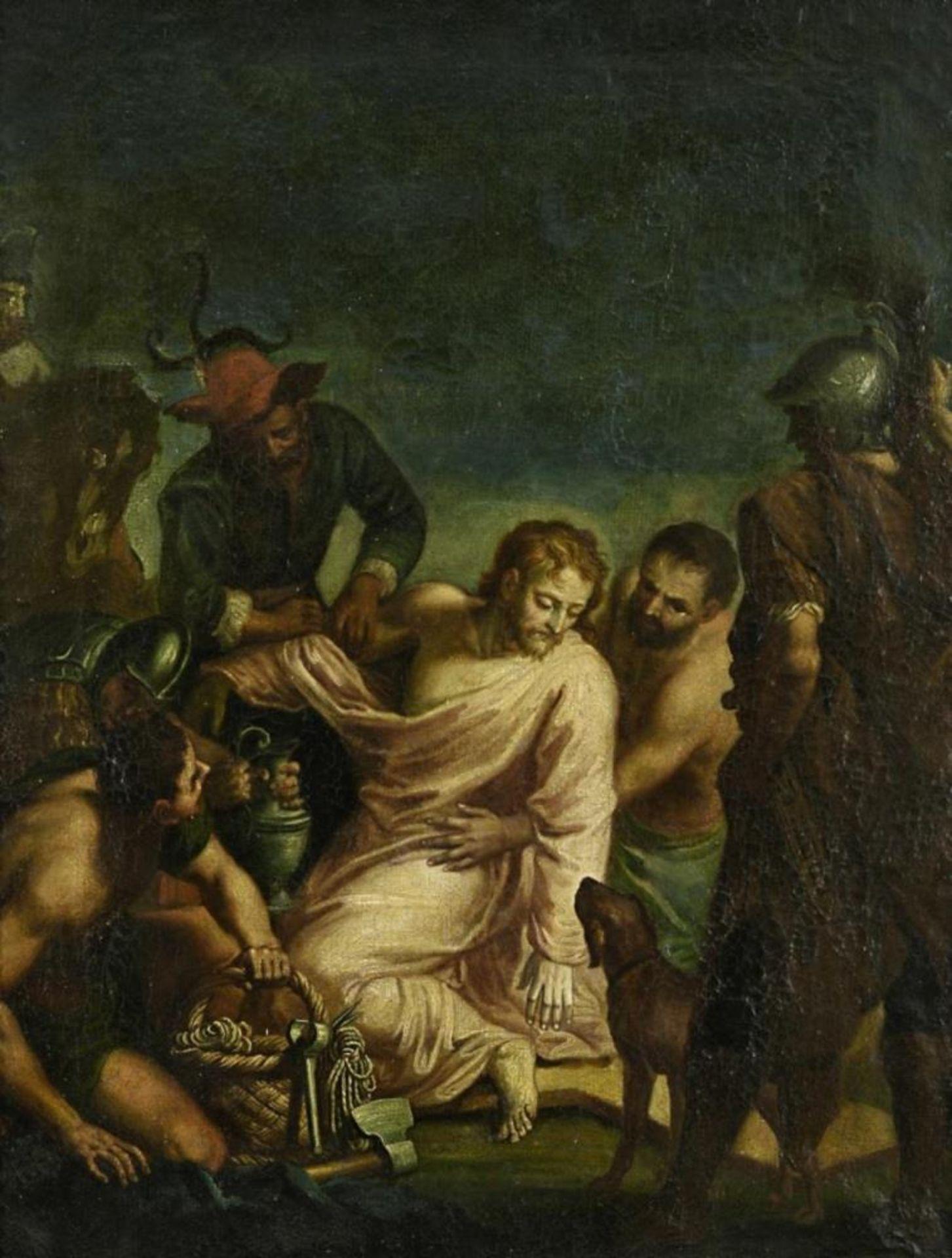 Jesus wird seiner Kleider beraubt (Mt 27,33-36)