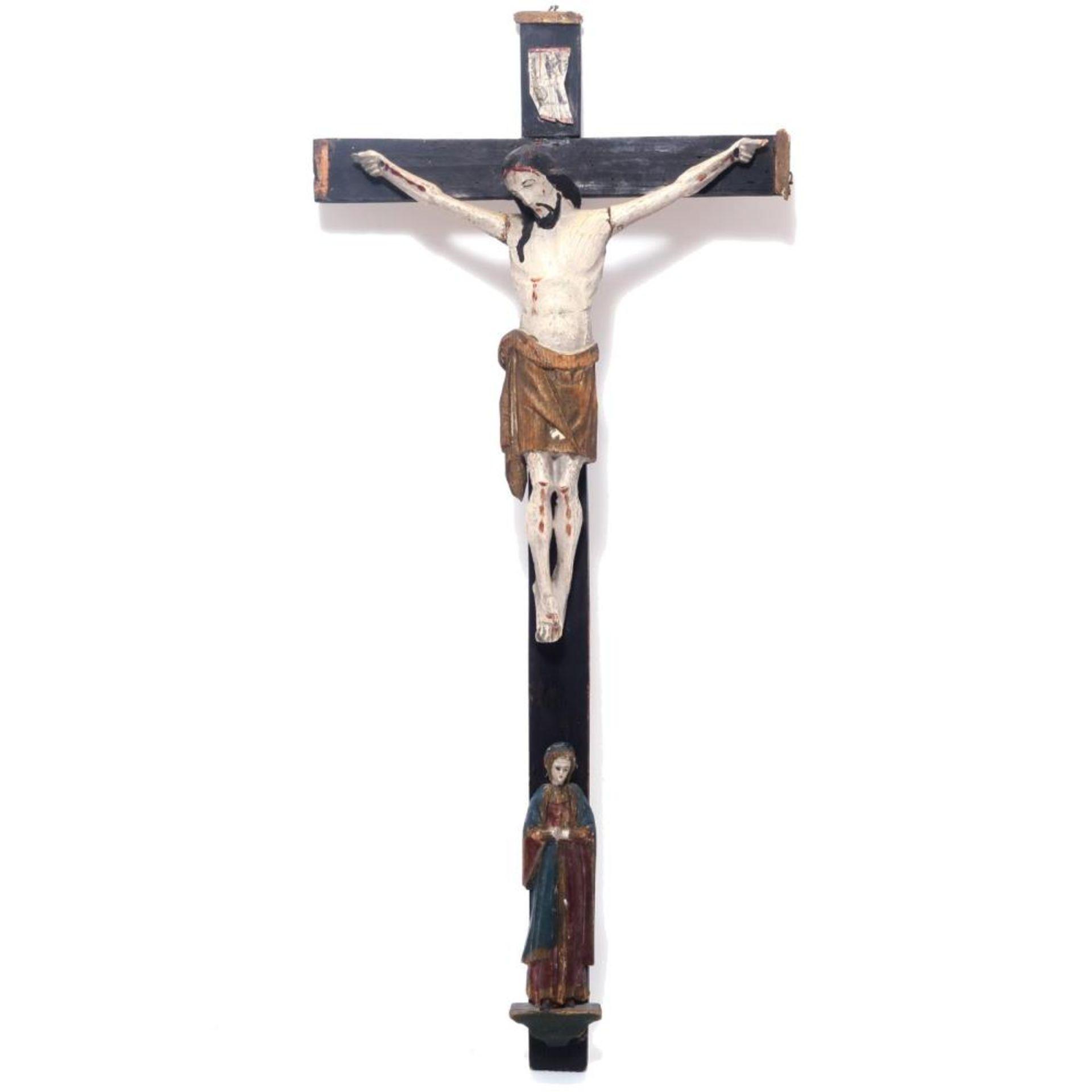 Kruzifix mit trauernder Muttergottes