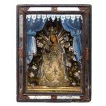 Klosterarbeit: Madonna mit Christus im Schrein
