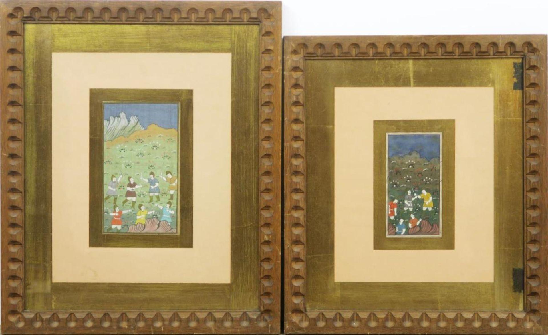 Vier Miniaturen: Schlachtenszenen / Figürliche Darstellungen - Bild 3 aus 3