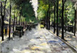 Berliner Straße im Sonnenschein (1920er Jahre)