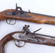 Zwei Duell-Pistolen 19. und 20.