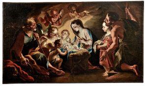 Anbetung des Jesuskindes durch die