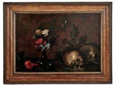 Vanitas-Stillleben mit Totenschädeln