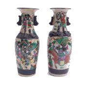 Paar Vasen mit Kriegerdarstellungen