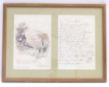 """Kulstrunk, Franz Autograph """"An den"""