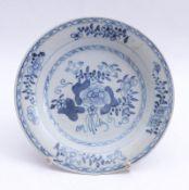 Teller mit Blau-weiß-Dekor China,