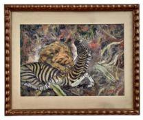 Eck, Ernst Zebra von einem Löwen