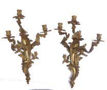 Paar Wandappliken im Louis-XV-Stil