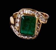 Smaragd-Brillantring Vicenza, 2. H.