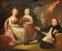 Familienbild mit drei Kindern