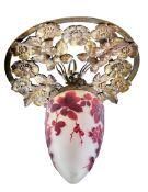 Jugendstil-Deckenlampe Emile Gallé,