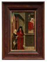Gotisches Tafelbild mit Heilungswunder Jesu