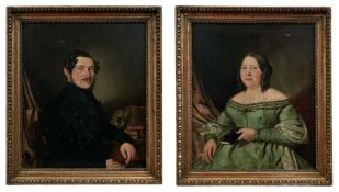 Portraitpendants eines Ehepaares