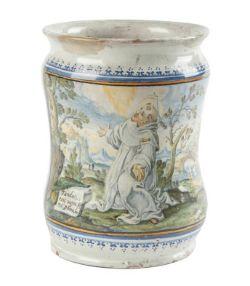 Albarello mit dem heiligen Petrus Martyr