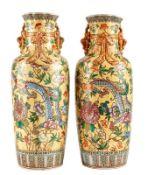 Paar Bodenvasen mit Drachendekor
