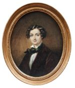 Ovales Bildnis eines jungen Mannes