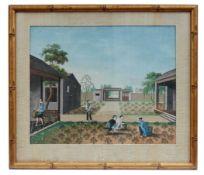 Arbeiter bei der Ernte in einer Gärtnerei