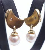 Paar Perl-Brillant-Ohrstecker