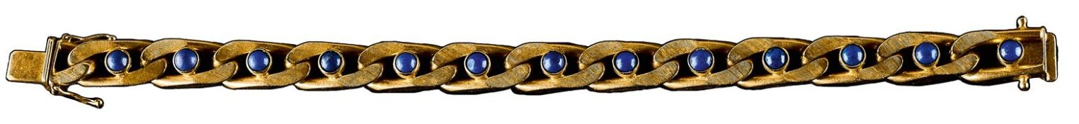 Lapislazuli-Goldarmband